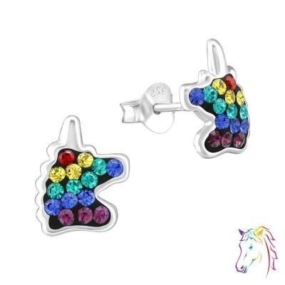 La Crystale kristályos unikornis színes gyermek fülbevaló - A4S38702