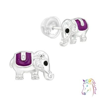 Elefánt prémium fülbevaló, szilikon záróvéggel - A4S40088
