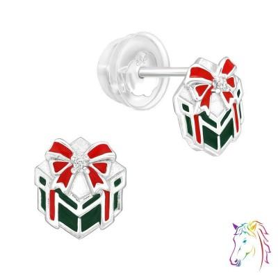 Karácsonyi ajándékcsomag prémium fülbevaló, szilikon záróvéggel - A4S40385