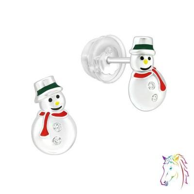 Hóember prémium fülbevaló, szilikon záróvéggel - A4S40387
